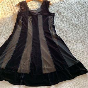 Jessica Classy Black Velvet Dress size 16